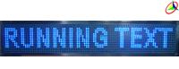 running text biru