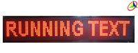 running text merah